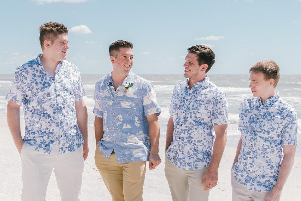 groomsmen-beach-wedding-photo, St.Pete-wedding-photographer