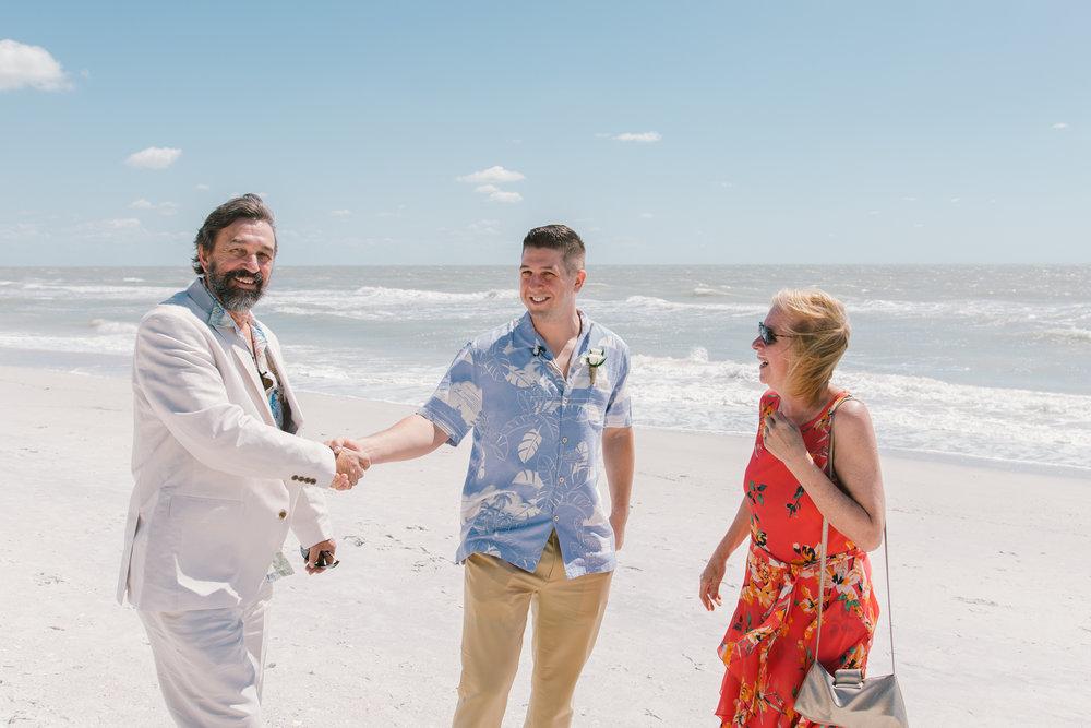 groom-and-parents-beach-wedding, beach-wedding-photographer