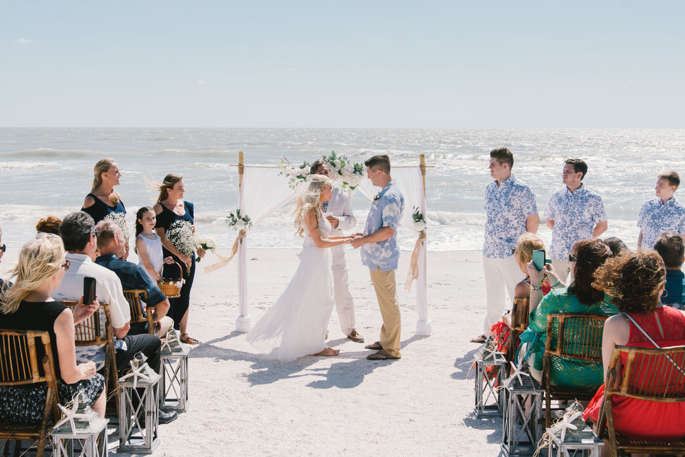 St.Pete-beach-wedding-ceremony, St.Pete-wedding-photography