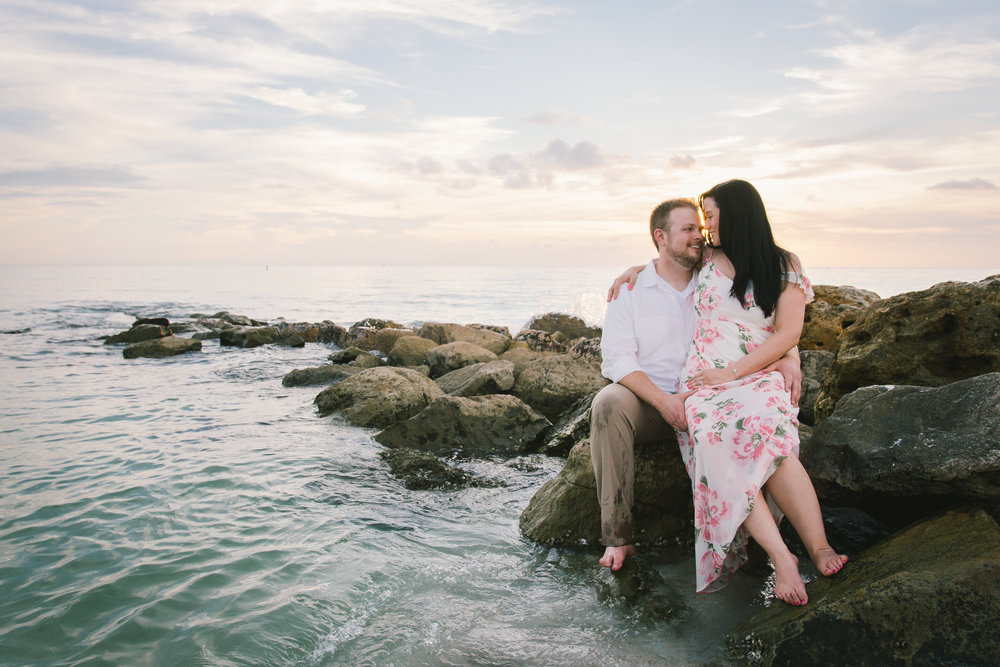rocky-shore-engagement-session, tampa-wedding-photographer