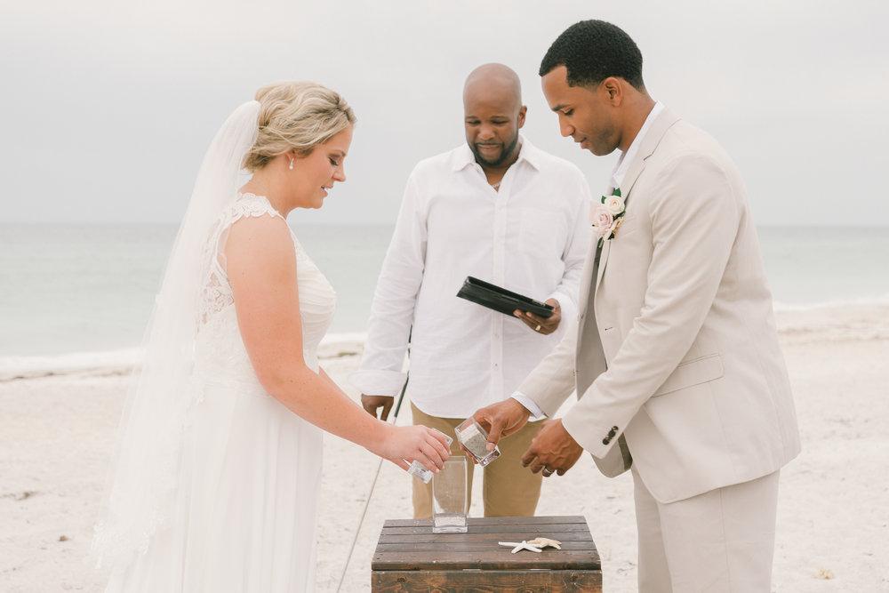 Florida-beach-wedding, sand-ceremony-photo