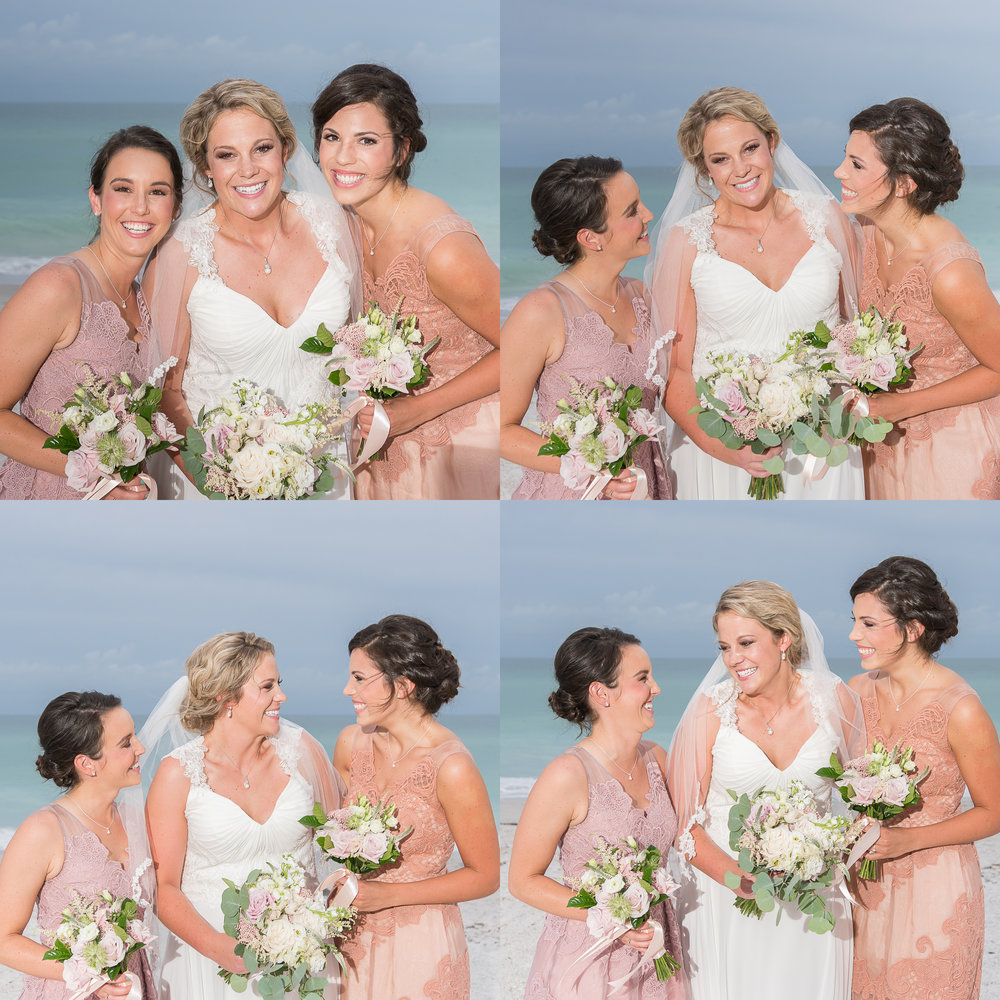 bride-and-bridemaids-at-the-beach, beach-wedding-photographer