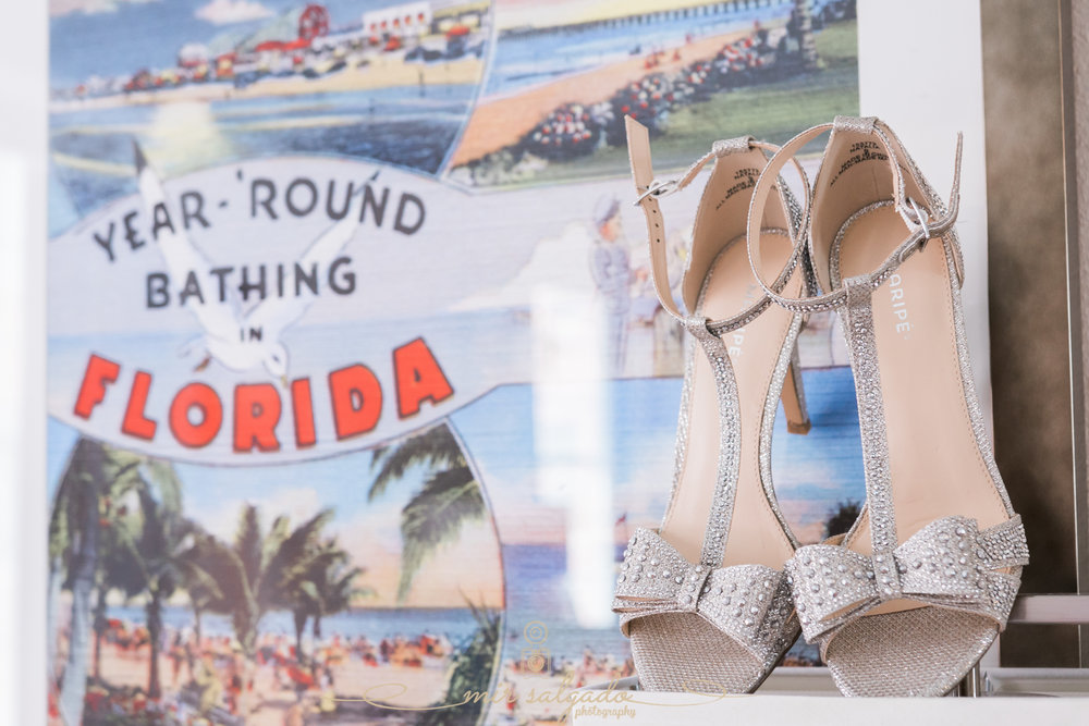 Florida-beach-wedding, The-Don-Cesar-wedding, Getting-ready-photos, bride-shoes