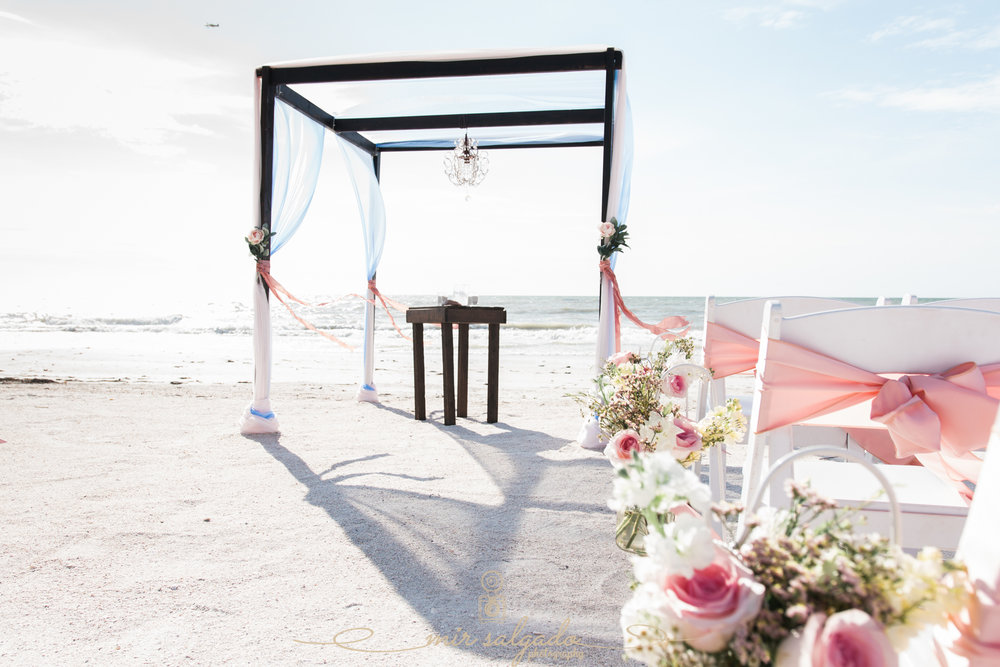 Tide-the-knot-beach-weddings, St.Pete-wedding-photographer, beach-wedding-decoration
