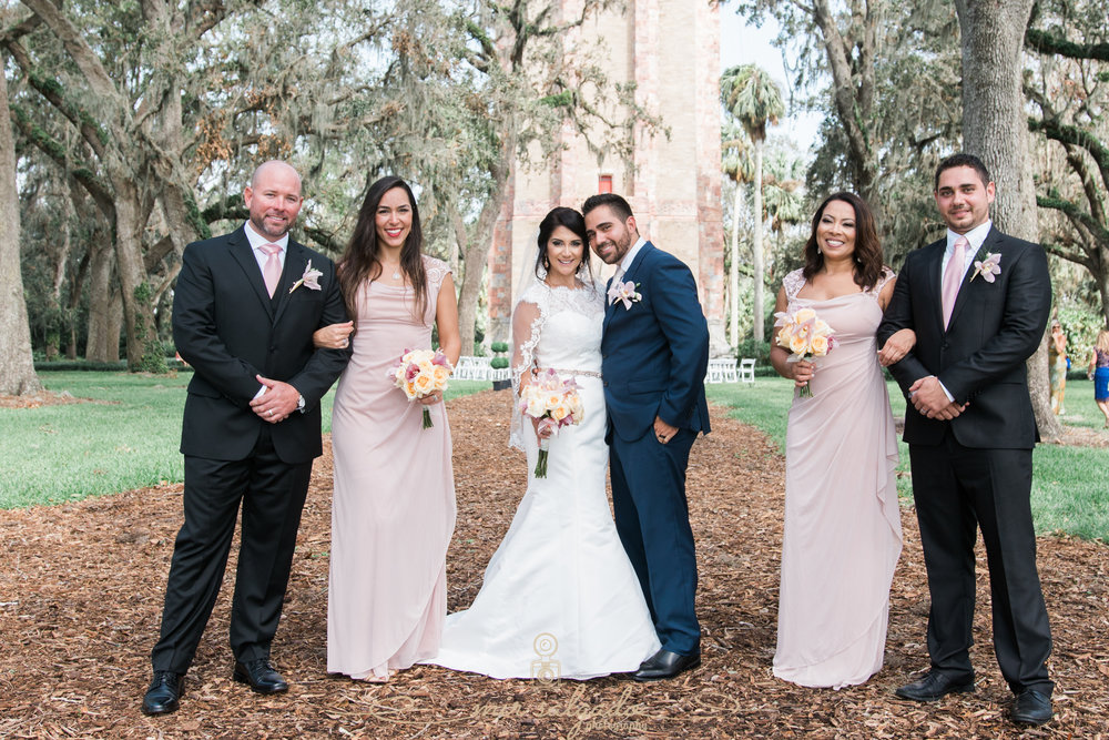 Bok-tower-gardens-wedding-photo, bridal-part-wedding-photo, Tampa-wedding-photo