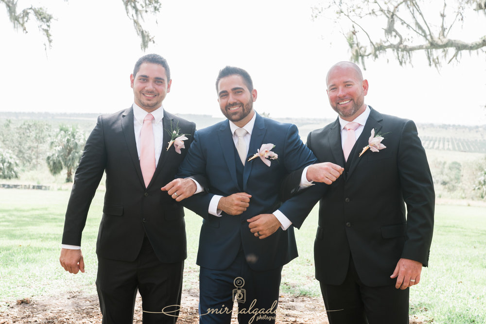 groom-and-groomsmen-photo, Bok-tower-gardens-wedding-photo