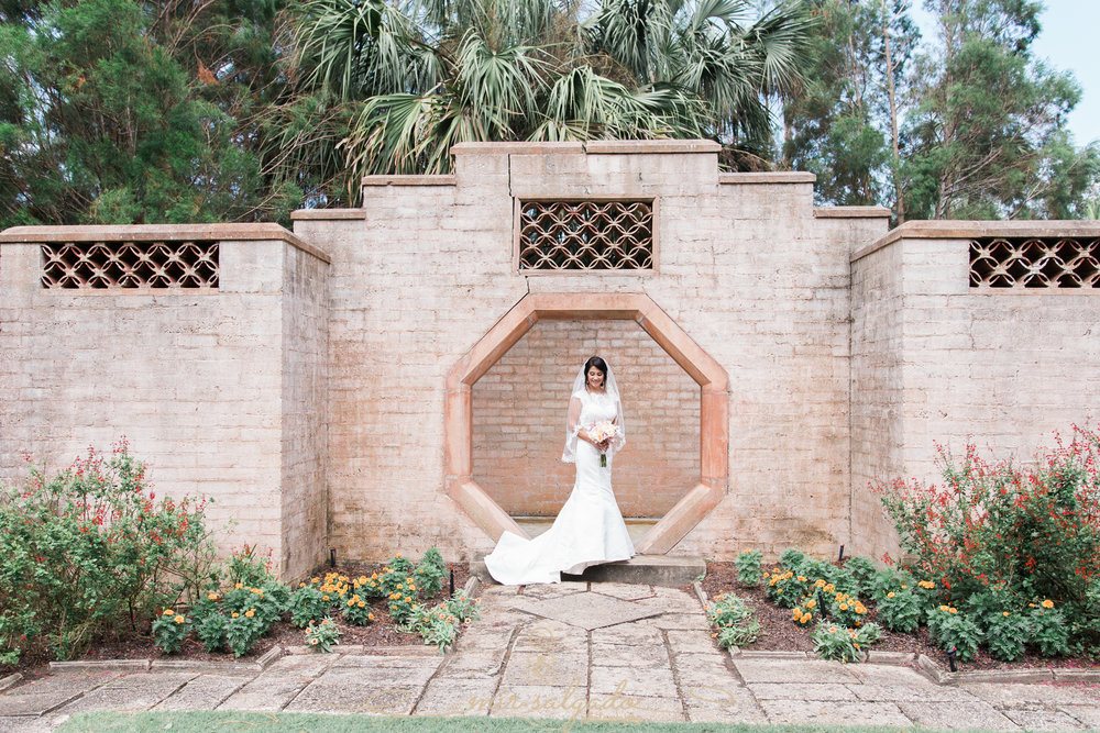 bride-and-groom-portrait, Bok-tower-gardens-wedding-day