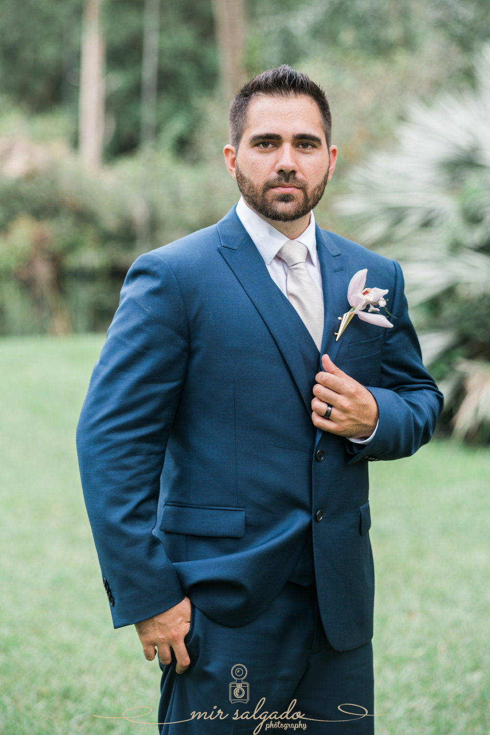 Groom-portrait, Bok-tower-gardens-wedding-photo