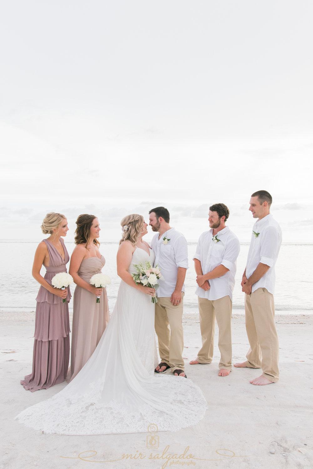 beach-wedding-photographer, bridal-party-photo, St.Pete-wedding-photographer