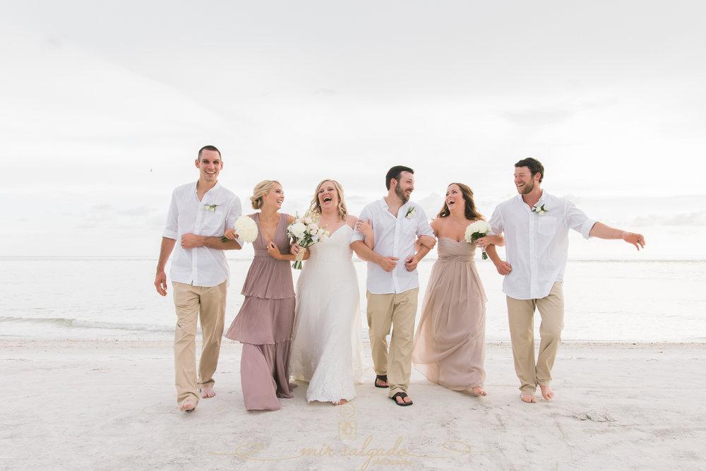 Florida-photographer, beach-wedding-photo, bridal-party-photo