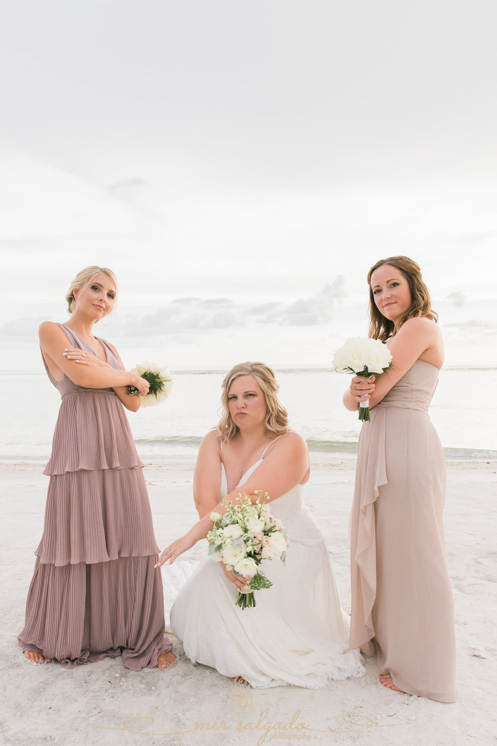 Beach-wedding-photographer, bride-and-bridesmaids-photo, St.Pete-wedding-photographer