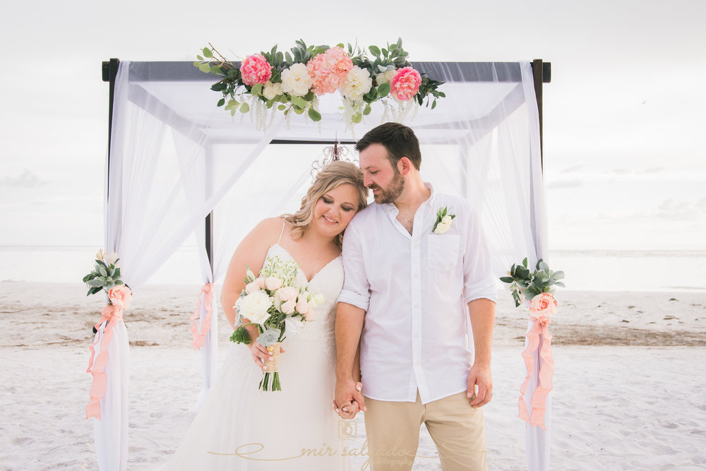 Anna-Maria-island-beach-wedding, bride-and-groom-photo