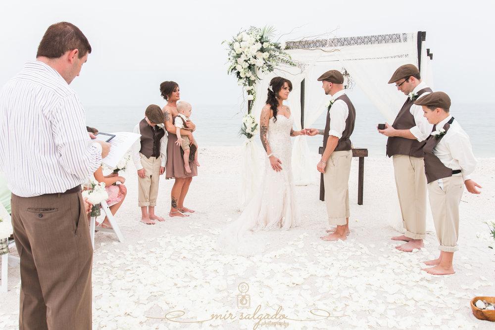 Florida-beach-wedding-ceremony, St.Pete-wedding-photo