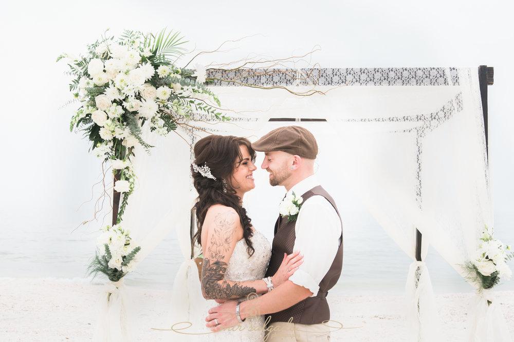 St.Pete-wedding-photographer, bride-and-groom-beach-wedding