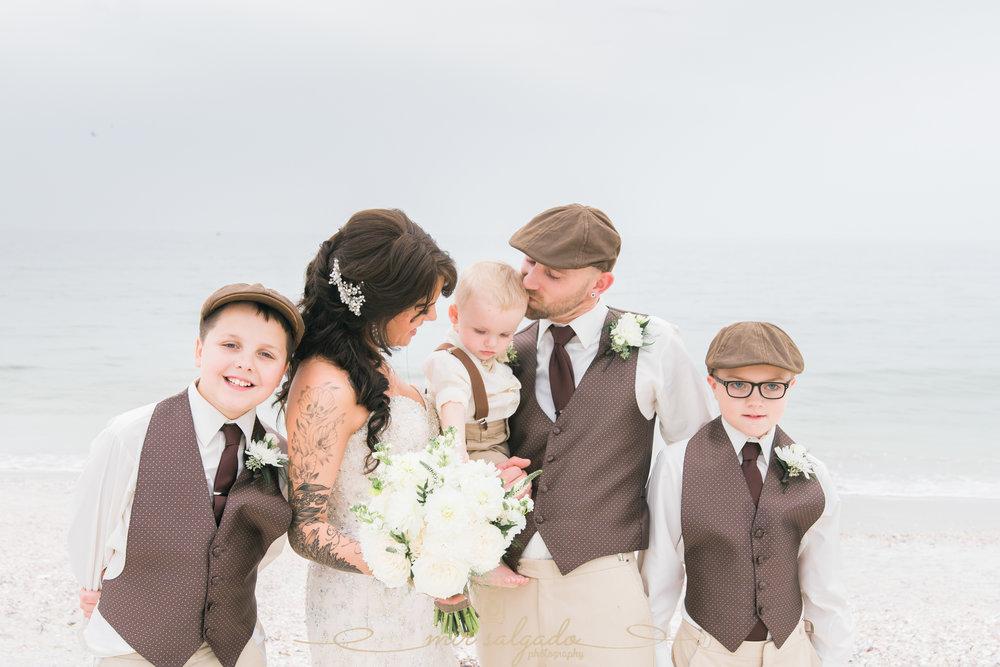 family-beach-wedding-photo, St.Pete-beach-wedding
