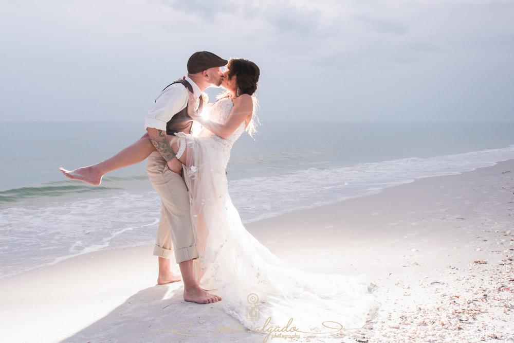 sexy-beach-wedding-pose, bride-and-groom-beach-wedding-photo