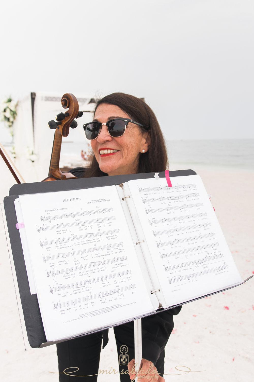 violinist, beach-wedding-music
