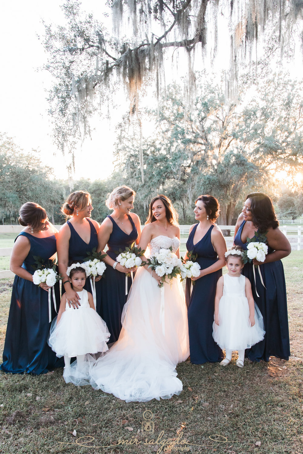 The-Lange-Farm-wedding, Tampa-wedding, bride-and-bridesmaids-photo