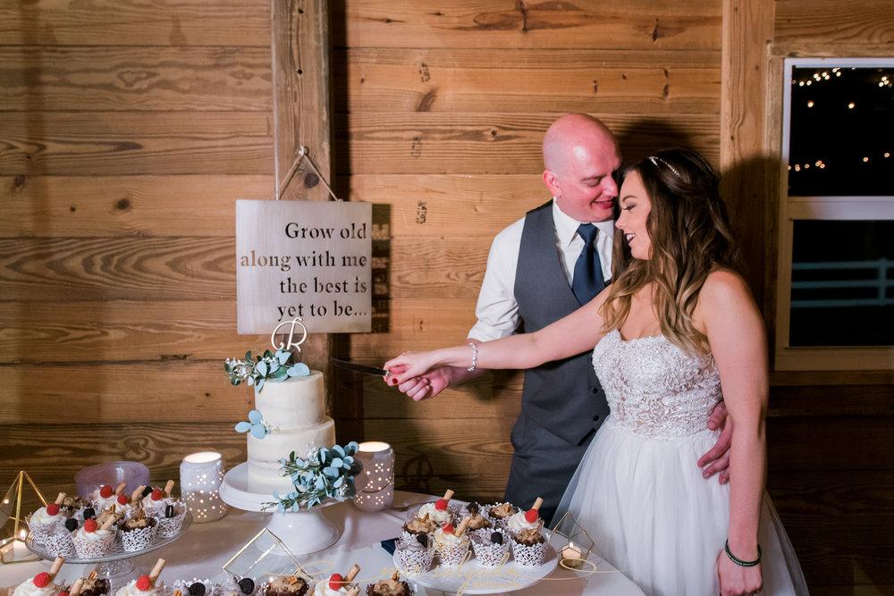 The-Lange-farm-wedding, cutting-cake-wedding