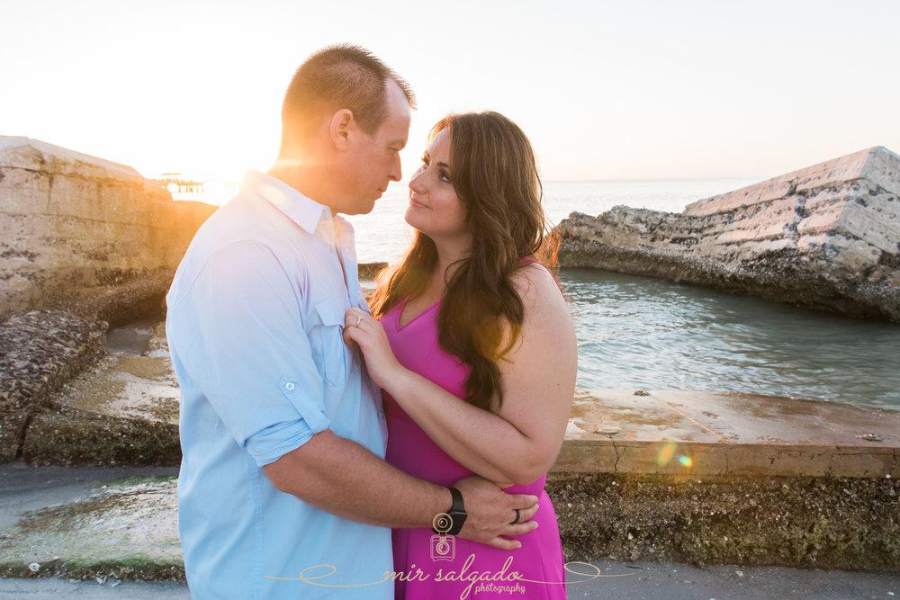 Fort-de-Soto-sunset-engagement-photo, Florida-engagement-session