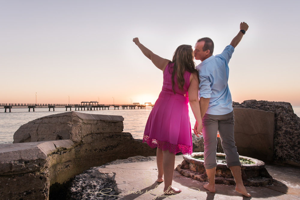 Florida-engagement-session, sunset-photos