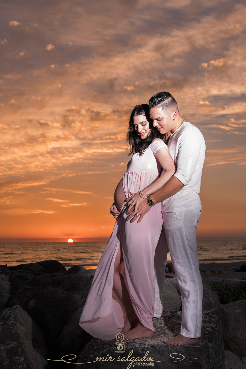 Florida-beach-maternity-photo, St.Pete-beach-maternity-photographer, Sunset-beach-photo