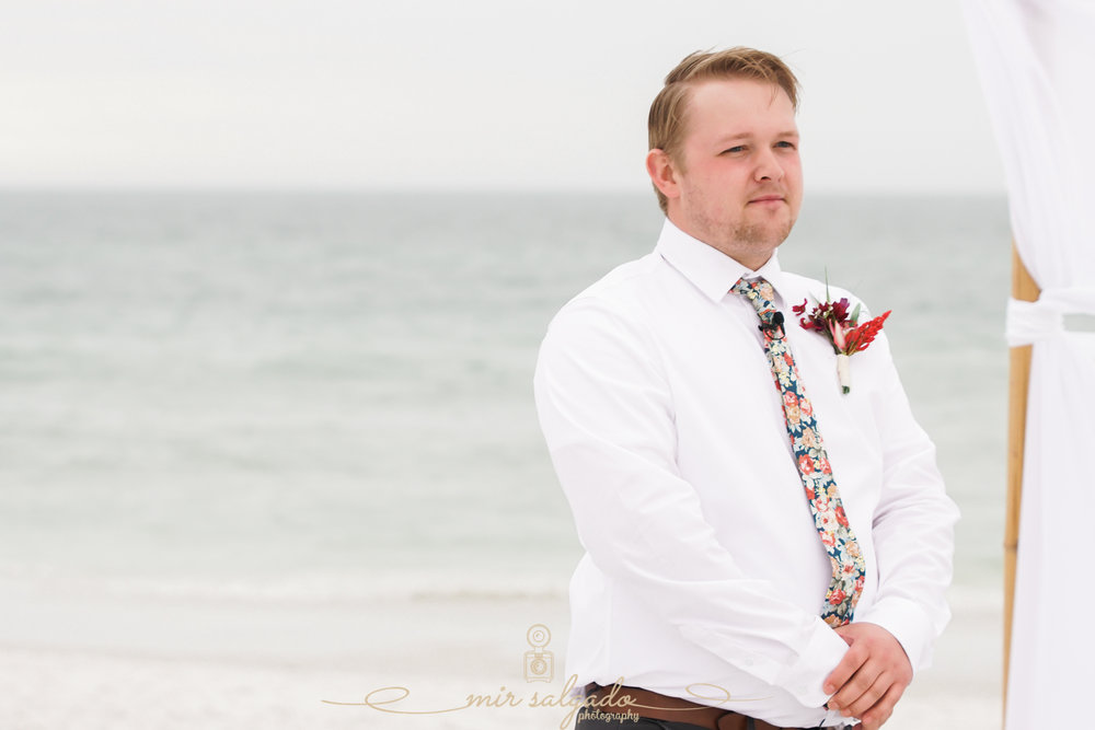 St.Pete-beach-wedding, groom-beach-photo