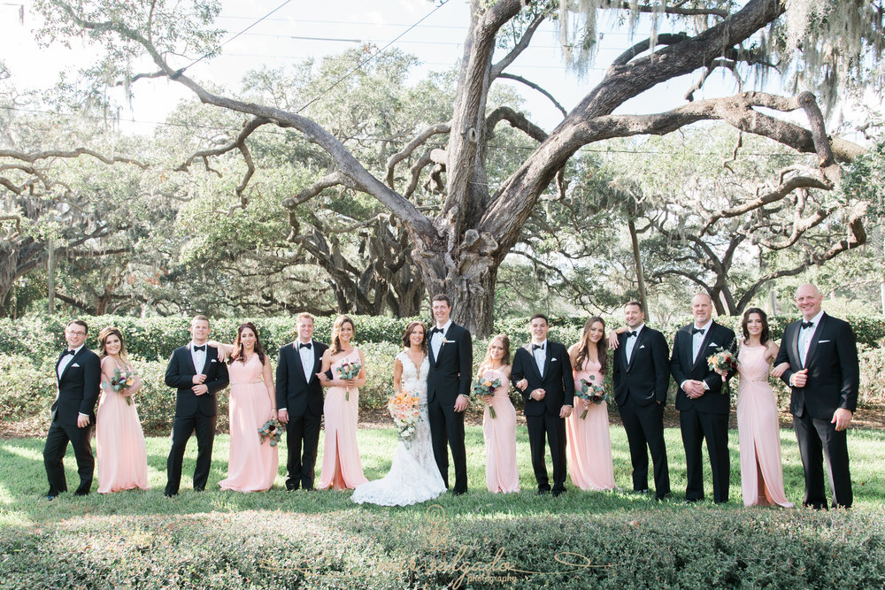 Tampa-wedding-photo, Tampa-yacht-club-wedding, bridal-party-photo
