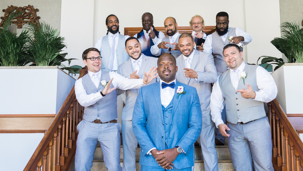 Montego-bay-wedding-photo, groom-and-groomsmen-photo