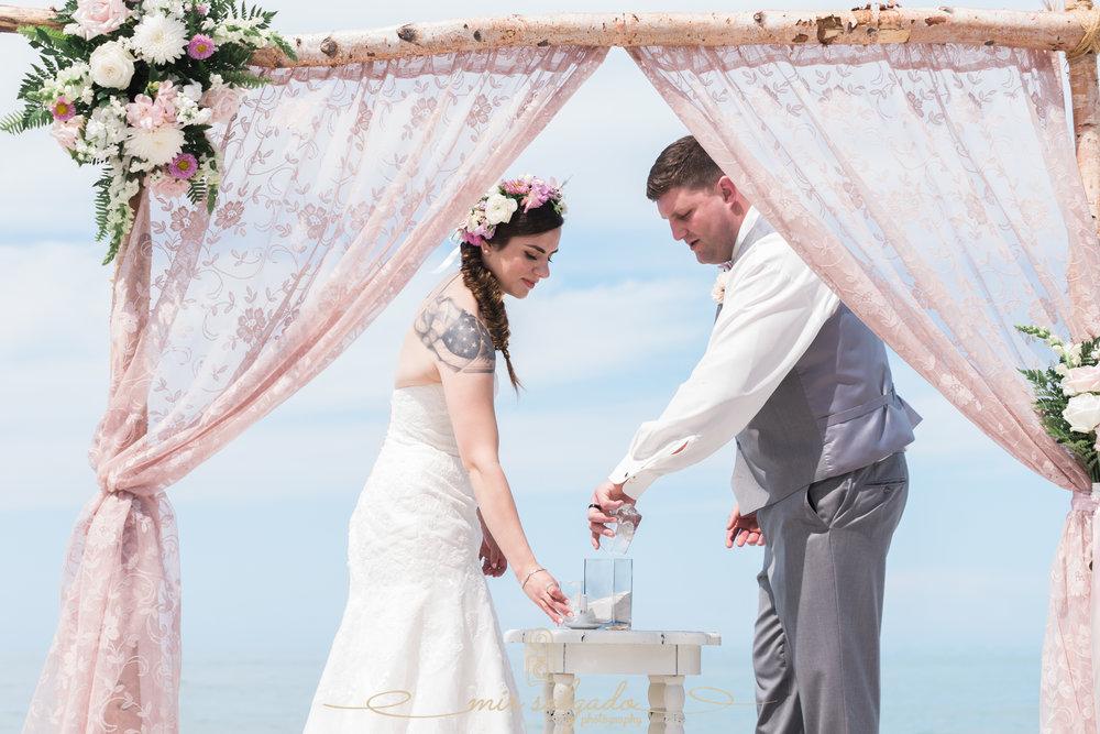 Sarasota-beach-wedding, sand-ceremony, Sarasota-wedding-photographer