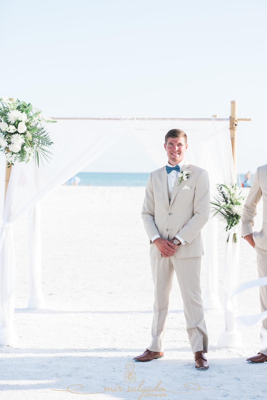 Sarasota-beach-wedding, groom-photo