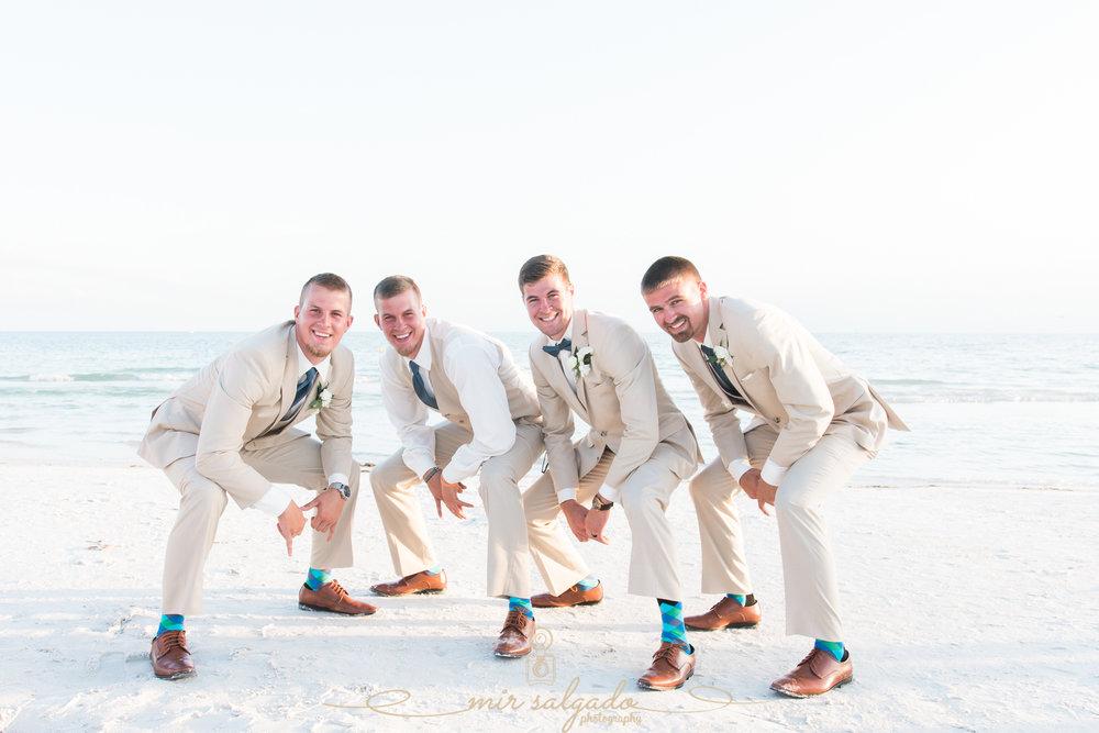 Destination-wedding-photographer, Florida-beach-wedding, Tampa-wedding-photographer, groom-and-groomsmen-photo