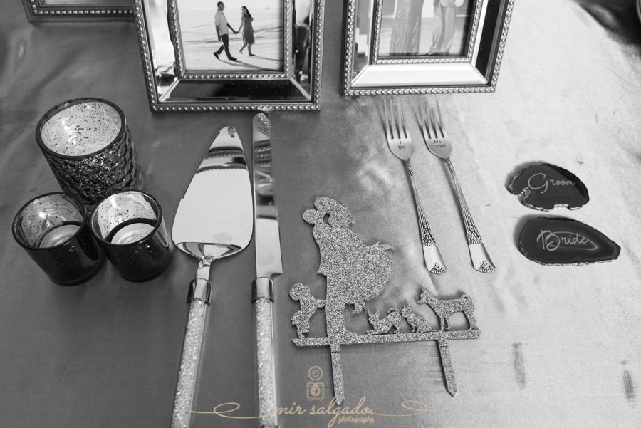 unique-silverware, framed-memories, cake-topper, custom-made-bride-groom-utensils