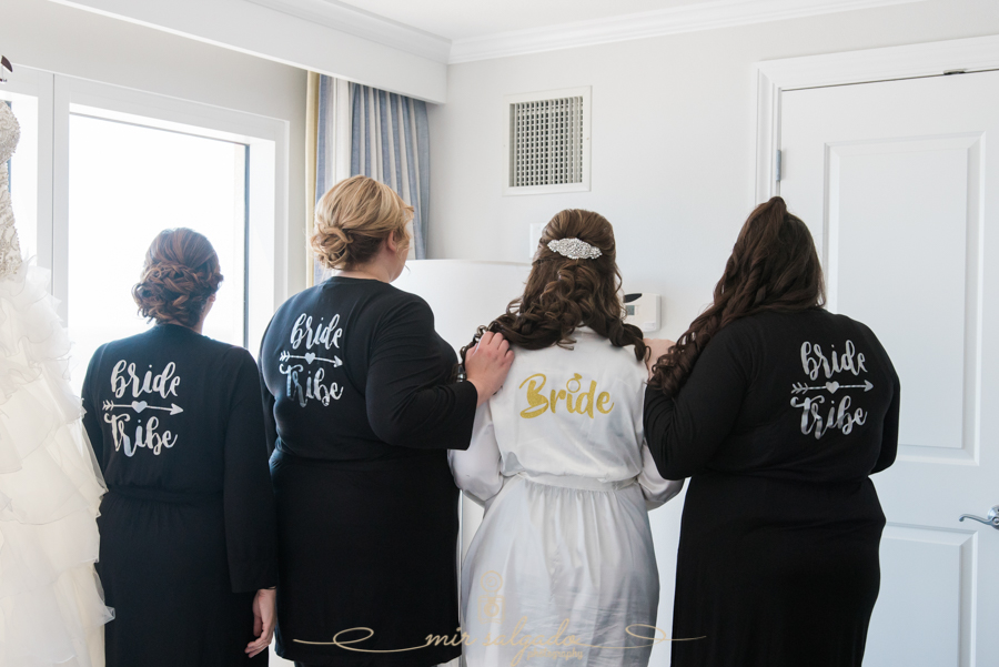 bridal-party-session, bridal-party-matching-robes
