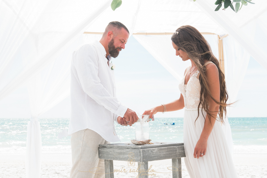 sand-ceremony-photo, Florida-beach-wedding-ceremony, Tide-the-knot
