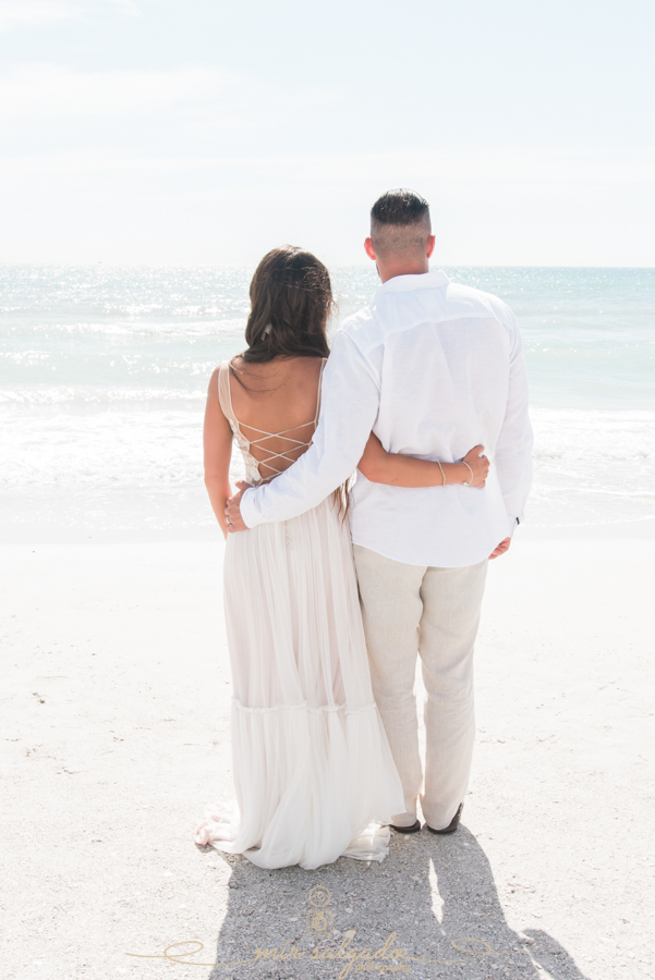 St.Pete-wedding, beach-wedding, bride-and-groom