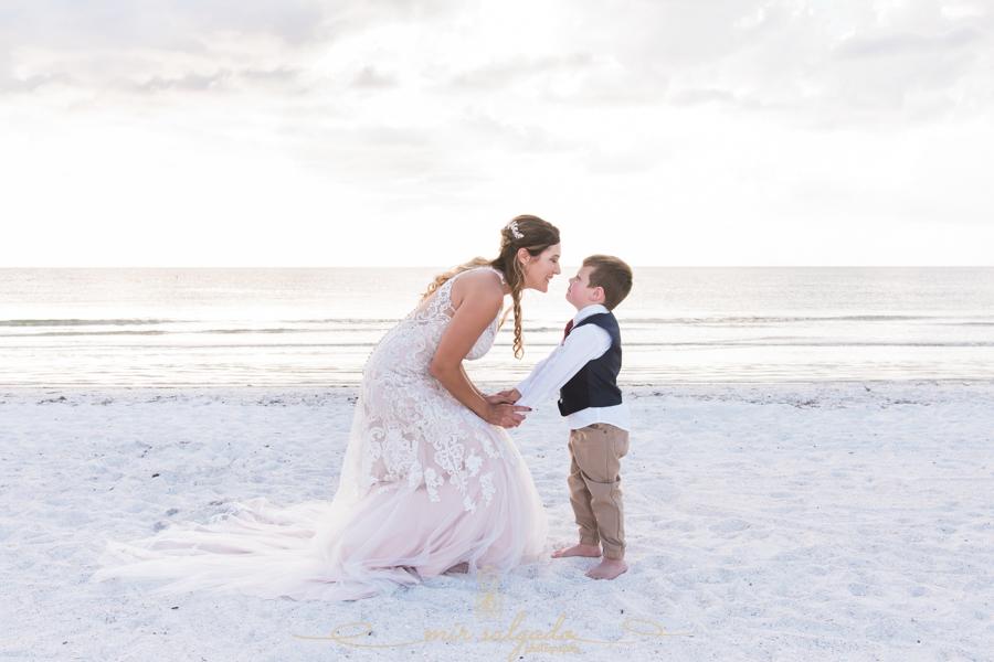 bride-and-son-photo, wedding-photo-bride-and-son, Pass-a-grille-beach-wedding