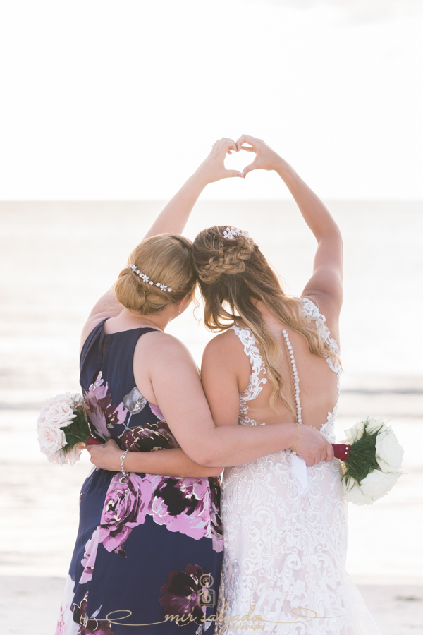 bride-and-maid-of-honor-photo,  beach-wedding-photo