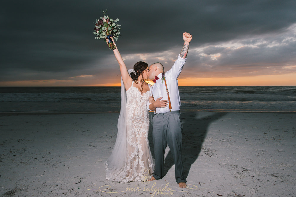 Sunset Beach wedding - Treasure Island, Fl