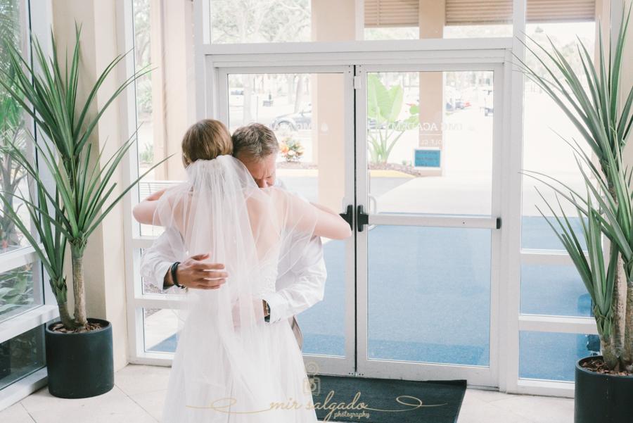 First-look-bride-and-dad, Bradenton-wedding-photographer