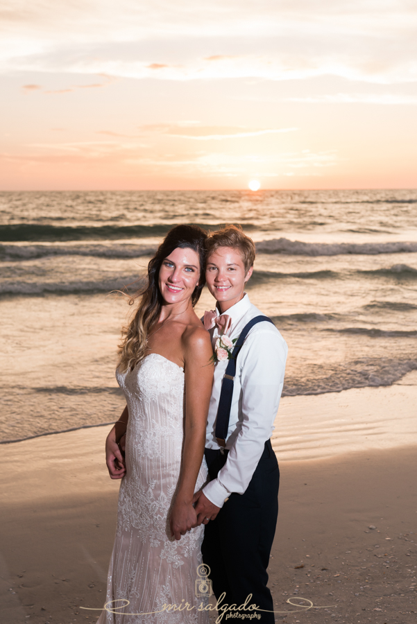 St.Pete-beach-wedding-photo, bride-and-bride-wedding-photo