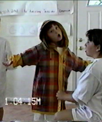 Danielle at  5-years-old  playing Joseph in a home production of  Joseph and the Technicolor Dreamcoat .