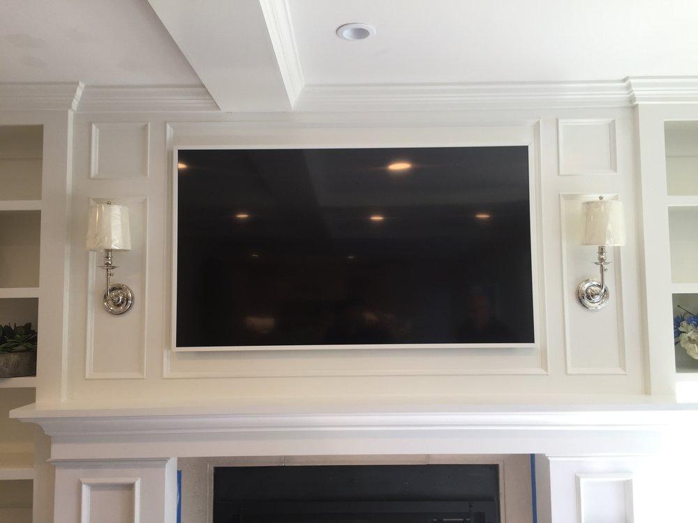 Samsung Art Frame TV in White