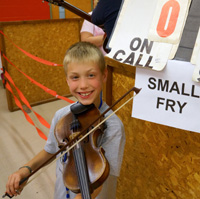 Brandon Wilson won third place in the Small Fry Division