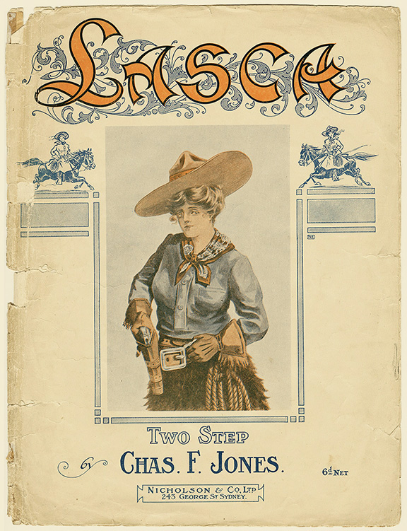 """Lasca"" poem book cover. Western Folklife Center Collection."