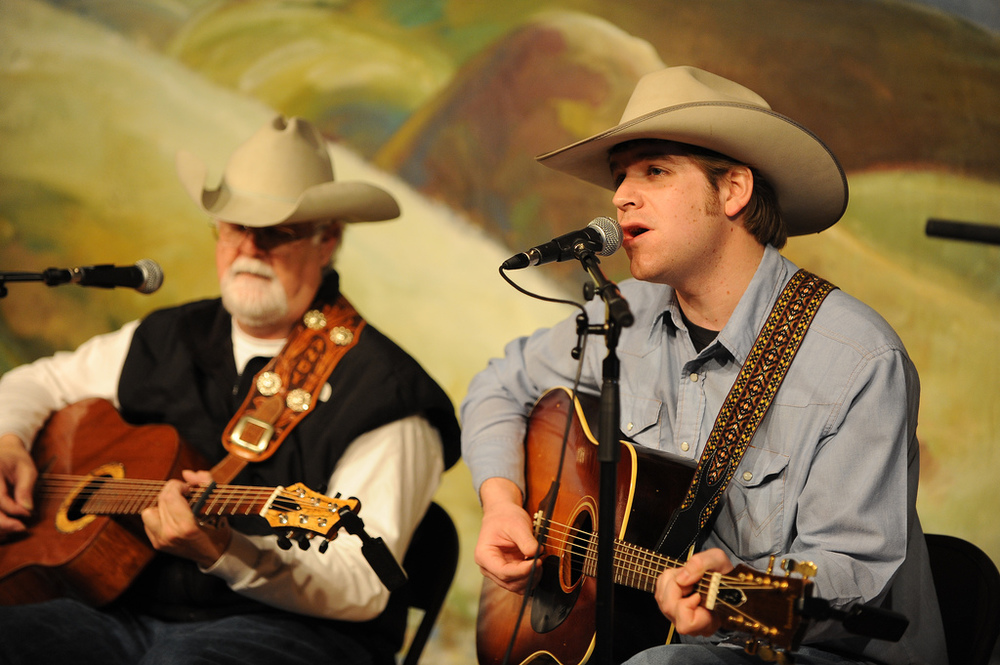 Andy and Andy at The National Cowboy Poetry Gathering by Jessica Brandi Lifland