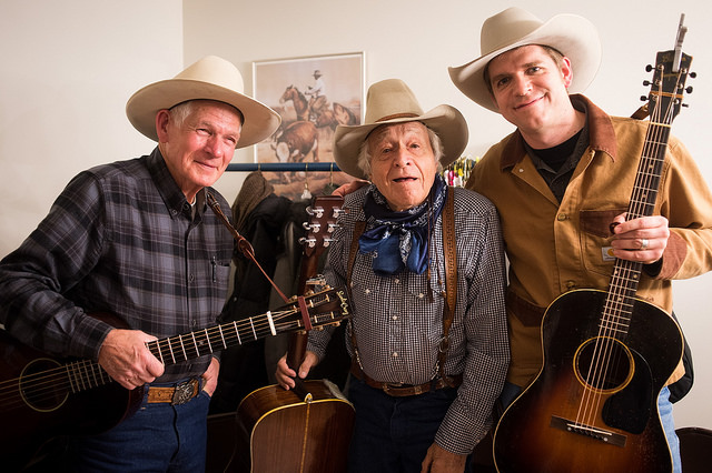 Don Edwards, Ramblin' Jack Elliott and Andy Hedges by Jessica Lifland