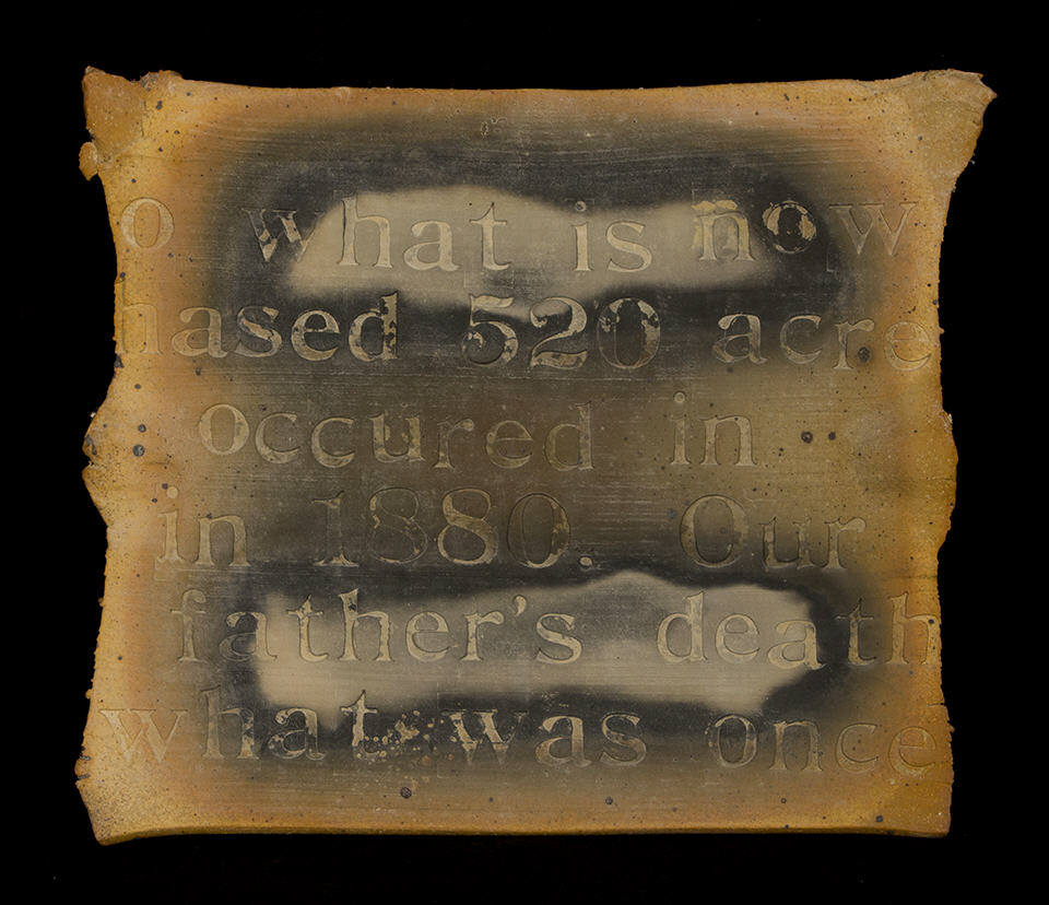 Poetry Plaque 1: purchase for $2,100 Stoneware (1978)
