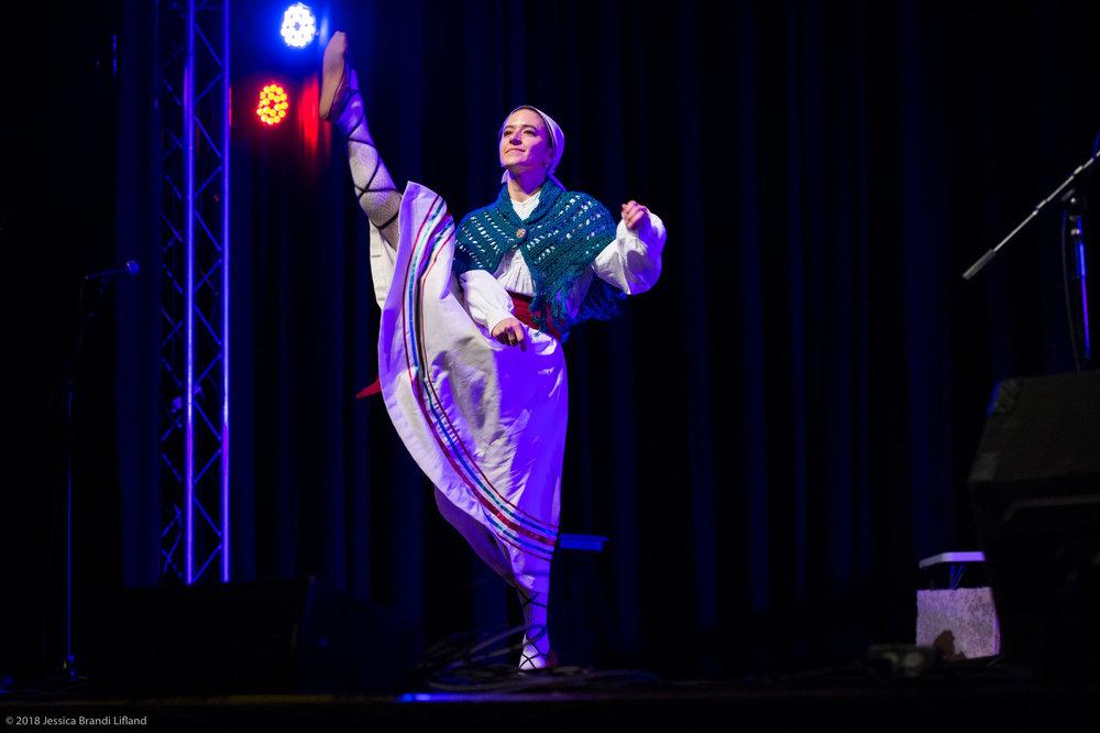 One of Elko's Ariñak Basque Dancers. Photo by Jessica Brandi Lifland.