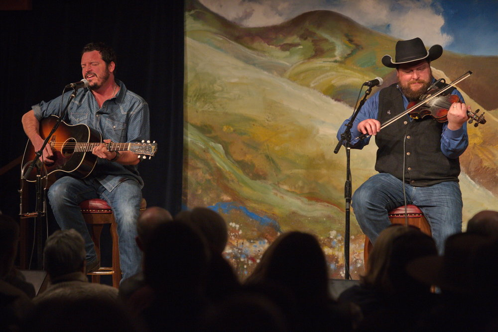 Cody and Willie Braun in the intimate G Three Bar Theater. Photo by Charlie Ekburg.